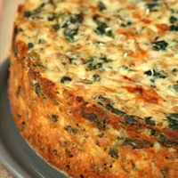 Three Cheese And Spinach Quiche