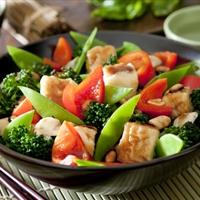 Tofu Stir Fry with Snow Peas
