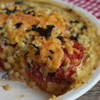 Tomato Corn Summer Pie (Meatless)*