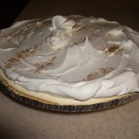 Triple Layer Eggnog Pie