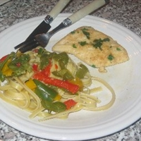 Triple Pepper Fettuccine Recipe