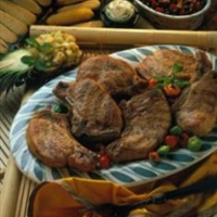 Tropical Island Chops with Pineapple-Cucumber Salsa