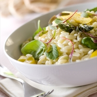 Truffled Orzo with Asparagus