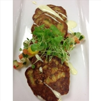 TUATUA FRITTERS WITH ASIAN FLAVOURS