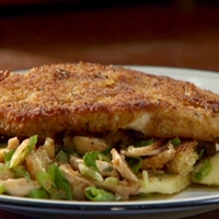 Turkey Cutlets with Gravy and Raw Stuffing Salad