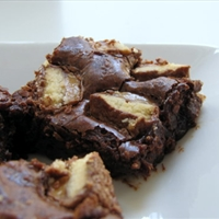 Twix Candy Bar Triple Chocolate Brownies Recipe