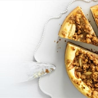 Pear and Apple Streusel Cheesecake