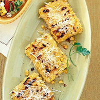 Grilled Polenta with Corn & Parmesan