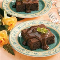 Chocolate Cake With Fudge Sauce