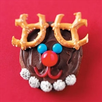 Chocolate Reindeer Cookies
