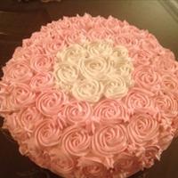 Vanilla flowers cake