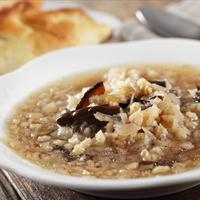 Vegan- Barley and Mushroom Soup
