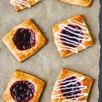 Vegan Cherry Jam Danishes