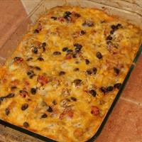Verde veggie black bean lasagna