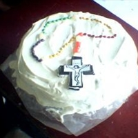 Waffle Torte Rosary Cake - No Bake!
