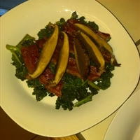 Warm Kale, Bacon & Portobello Salad    