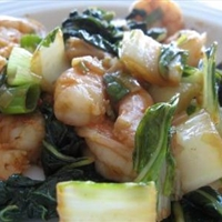 Warm Shrimp Salad with Bok Choy
