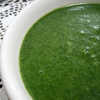 Warming Cream of Spinach Soup