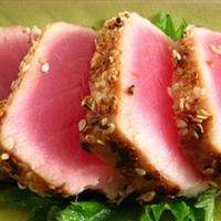 Wasabi Macadamia Crusted Tuna