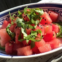 Watermelon Jalapeno Salad