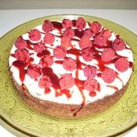 White Chocolate And Raspberry Cheesecake