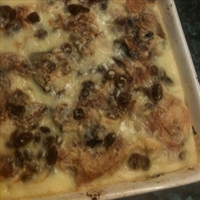 White Chocolate Bread And Butter Pudding