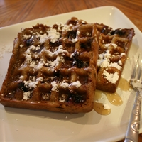 Whole-Wheat Blueberry Waffles