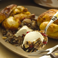 Wild Rice Stuffing with Fresh Goat Cheese Log