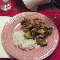 Wok-Seared Chicken & Vegetables (Kadhai murghi)