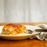 Yam Gratin with Gruyere Cheese