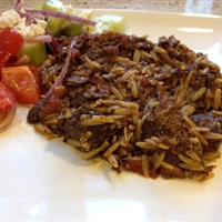 Youvetsi (Greek lamb casserole with orzo)