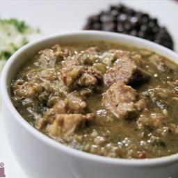 3-chile Green chili (Guisado Chile verde a los tres chiles)