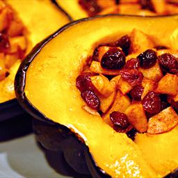 Acorn Squash with Cranberry Apple Stuffing