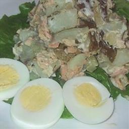 Almyra's Salmon, Asparagus and Potato Dinner