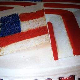 America birthday cake