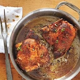 Andouille-Stuffed Pork Chops