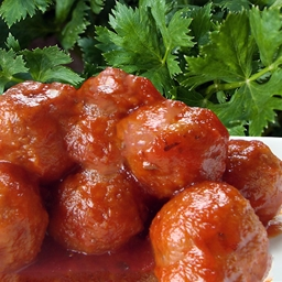 Apple Jelly Meatballs