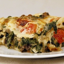 Artichoke and Portobello Mushroom Lasagna