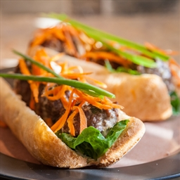 Asian-style Meatball Sandwiches with Ginger Sauce -- courtesay of Eric Akis