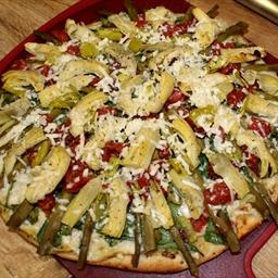 Asparagus & Artichoke Veggie Pizza