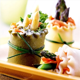 APPETIZER- Asparagus lasagna noodle spring rolls