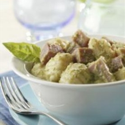 Asparagus Pesto with Gnocchi and Ham