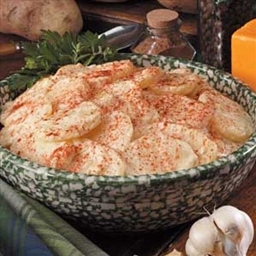 Au Gratin Garlic Potatoes