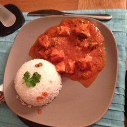 Authentic sweet and sour chicken balti