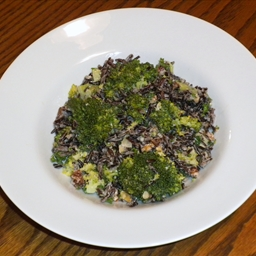 Autumn Wild Rice, Walnut, and Broccoli Salad