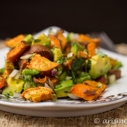 Gluten Free Avocado and Yam Salad with Lime