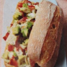 Avocado, chicken & bacon melt