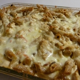 Bacon Alfredo Chicken Pasta Bake