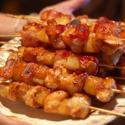 Bacon-Wrapped Teriyaki Chicken Skewers