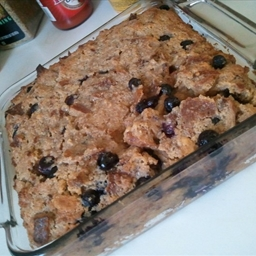Bagel Bread Pudding with Fruit